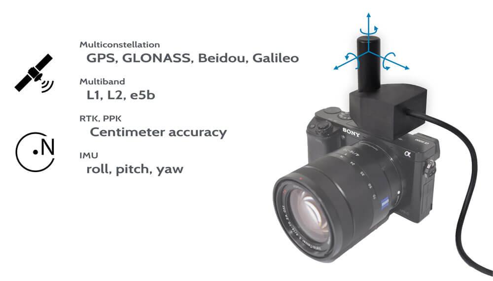gps gnss imu camera kamera 3d ImageVector