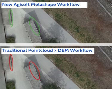 agisoft metashape workflow new depth maps mesh dem