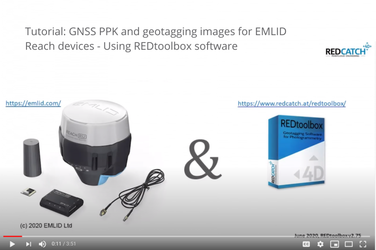 Tutorial: GNSS PPK and geotagging images for EMLID Reach devices - Using REDtoolbox software