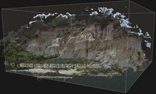 costal erosion gps monitoring photogrammetry